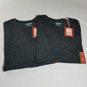 T-Shirt Med Tall Dark Gray Short Sleeve 2 Shirts